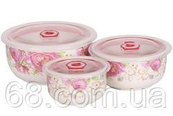Набор керамических контейнеров с вакуумной крышкой 3 шт