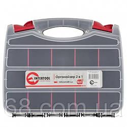 Органайзер пластиковый, 12,5 , 2 в 1, 320x260x80 мм INTERTOOL BX-4004