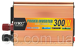 Преобразователь напряжения(инвертор) 24-220V 300W + USB (7062)