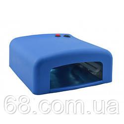 УФ лампа для нарощування нігтів на 36 Вт Синя