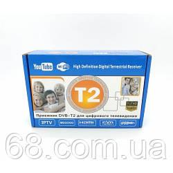 Цифрова телевізійна Т2 Megogo ефірний тюнер DVB-Т2 ресивер DVB-T2, Wi-Fi, IPTV, USB