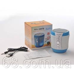 Портативна колонка Bluetooth WS-1805+ зі світломузикою