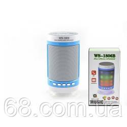Портативна Bluetooth колонка зі світломузикою WSTER WS-1806 FM, AUX, USB