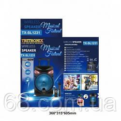 Колонка TRITRONIX TR-SL 1231 , 12 дюймів,150W (USB/Bluetooth/FM/Microphone) караоке