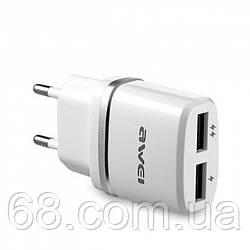 Мережевий адаптер Awei C-930 5V, 2.1, A, 2 USB