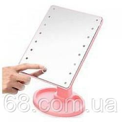 Настольное косметическое зеркало с подсветкой для макияжа Magic Large LED ST-253 (Розовое)
