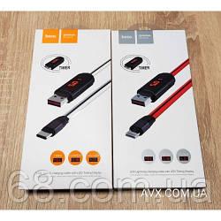 Кабель Hoco U29 USB Type-C.Micro.LED Dislayed Timing 1.2 m Red