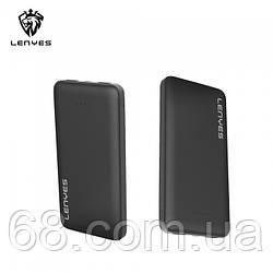 Зовнішній акумулятор Power bank Lenyes PX191 10000 Mah батарея зарядка Чорний