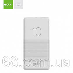 Зовнішній акумулятор Power bank GOLF G80 10000 Mah батарея зарядка Білий
