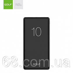Зовнішній акумулятор Power bank GOLF G80 10000 Mah батарея зарядка Чорний