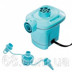 Мережевий електричний насос Intex 58640 Quick-Fill об'єм 600 л / хв з трьома насадками Блакитний