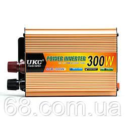 Перетворювач напруги(інвертор) 12-220V 300W + USB Gold (5353)