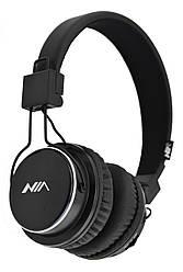 Беспроводные Bluetooth стерео наушники NIA Q8 с МР3 и FM черные (4407)