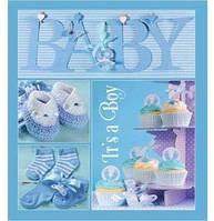 Детский фотоальбом evg 20 sheet baby collage blue в коробке