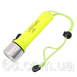 Ручний ліхтар підводний для підводного плавання і дайвінгу та полювання PF 02 Yellow (1096)