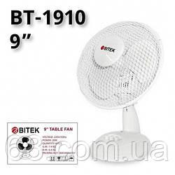 Вентилятор настольный BITEK диаметр 3 пластиковых лопастей 23см мощность 20Вт