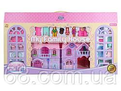 Домик КВ 99-15 (10) 2 этажа, 3 фигурки персонажей, питомец, мебель, свет, звук, на батарейках, в коробке