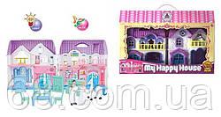 Домик 8203-6 (24/2) 2 этажа, 2 фигурки персонажей, лошадь, мебель, свет, звук, на батарейках, в коробке