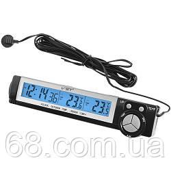 Автомобільні годинник з термометром vst-7043