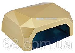 Гибридная CCFL+LED лампа 36W Quick CCFL LED Nail Lamp Кофе (3694)