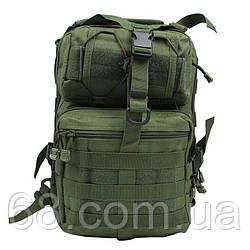 Рюкзак сумка тактична військова Oxford 600D 20л через плече Green