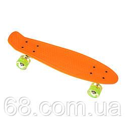 Пенниборд-скейт 23, колеса PU СВІТЯТЬСЯ