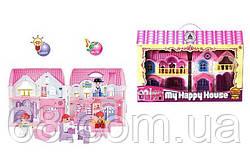 Домик 8203-5 (24/2) 2 этажа, 4 фигурки персонажей, мебель, свет, звук, на батарейках, в коробке