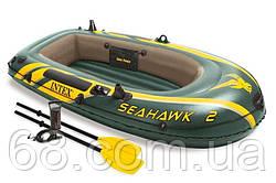 Intex Човен 68347 NP (2) Seahawk 2 Set, (68346/човен, 59623/весла, 68612/насос) в коробці