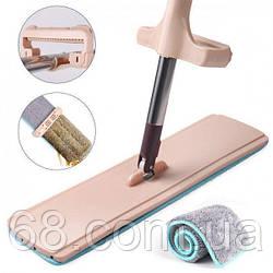 Швабра лентяйка для быстрой уборки с отжимом Spin Mop 360 с микрофиброй p