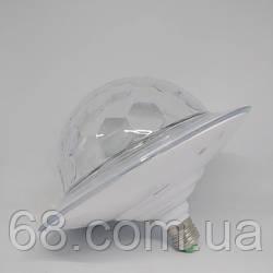 Світломузика диско куля з цоколем Magic Ball Music MP3 плеєр з bluetooth E27