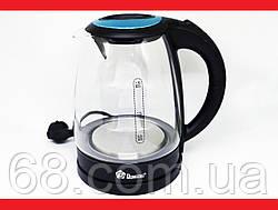 Domotec MS-8110 2200W 1.8L Чайник электрический (стеклянная колба)  LED подсветка p