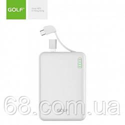 Зовнішній акумулятор Power bank GOLF G73 10000 Mah батарея зарядка Білий