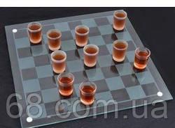 Алкогольна гра шашки - чарки №085м (40х40см)