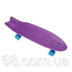 Пенниборд-скейт YB-28, Дошка-70см, колеса PU СВІТЯТЬСЯ