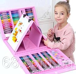 Дитячий набір для творчості і малювання 208 предметів (pink)
