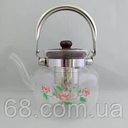 Стеклянный чайник-заварник А-Плюс TK-1045 1,2 литра