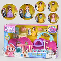 Домик 7988 (18) 6 видов, кукла, 6 питомцев, мебель, аксессуары, в коробке