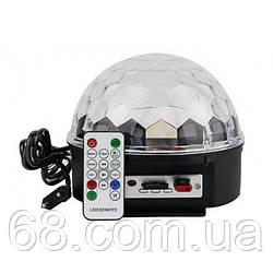 Світломузика диско куля Magic Ball Music MP3 плеєр з bluetooth