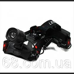 Потужний Налобний ліхтар BL POLICE P-T32-P50 ліхтарик 1050 Lumen