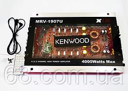 Автомобильный усилитель звука Kenwood MRV-1907U + USB 4000Вт 4х канальный Прозрачный корпус