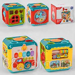 Логічний Куб HE 0533 (12) світло, звук, на батарейках в коробці