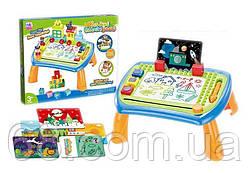 Ігровий столик 009-2023/2025 (24) 2 кольори, магнітна дошка для малювання, в коробці