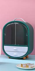Органайзер для косметики/шафка 3 секції (Зелений)(W-18) / бокс косметичний