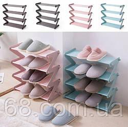 Полка стойка органайзер для обуви 4 полки Shoe Rac Amazin p