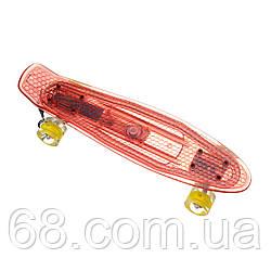 Пенниборд-скейт 850, Світиться дека, колеса PU СВІТЯТЬСЯ