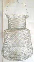 Садок рибальський металевий круглий діаметр 33см