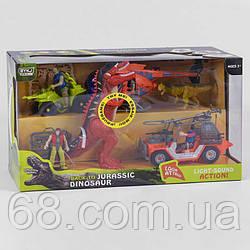 """Ігровий набір 7731 В (8) """"Динозаври"""", 10 елементів, динозавр на батарейках з підсвічуванням очей і звуком, 3"""