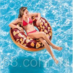 Надувний круг Шоколадний пончик Intex 56262