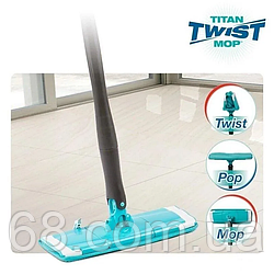 Швабра лентяйка для быстрой уборки с отжимом Titan Twist Mop p