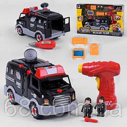 Машина-конструктор 661-416 (12) свет, звук, шуруповерт, в коробке